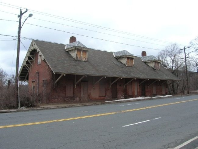 Windsor Locks Train Station - View from Main Street image. Click for full size.