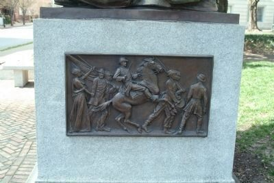 A closer view of bas relief on the right side of the marker image. Click for full size.