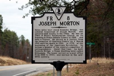 Joseph Morton Marker image. Click for full size.