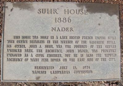 Suhr House Marker image. Click for full size.