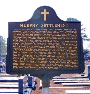 Murphy Settlement Marker, Side 1 image. Click for full size.