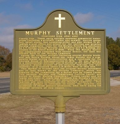 Murphy Settlement Marker, Side 2 image. Click for full size.