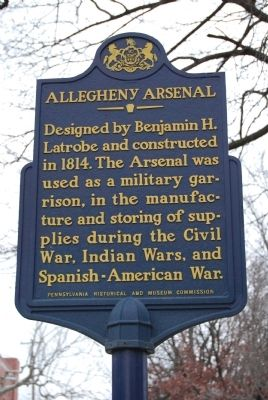 Allegheny Arsenal Marker image. Click for full size.