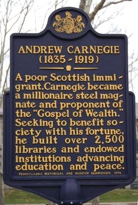 Andrew Carnegie Marker image. Click for full size.