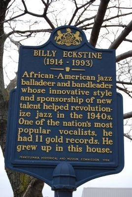 Billy Eckstine Marker image. Click for full size.