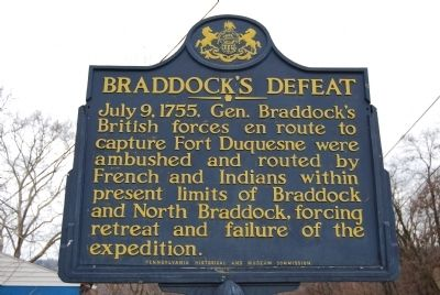 Braddock's Defeat Marker image. Click for full size.