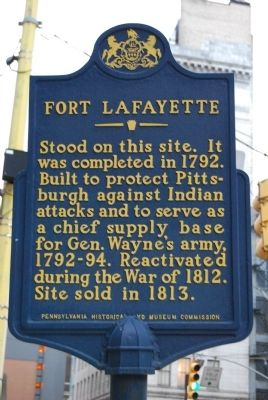 Fort Lafayette Marker image. Click for full size.
