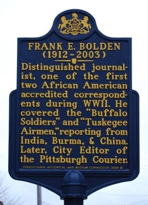 Frank E. Bolden Marker image. Click for full size.