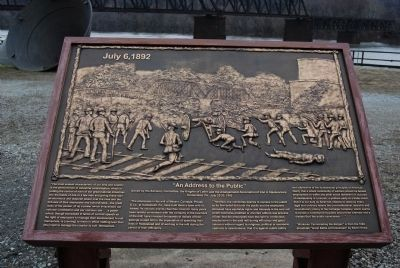 Homestead Strike Plaque image. Click for full size.