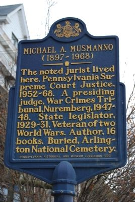 Michael A. Musmanno Marker image. Click for full size.