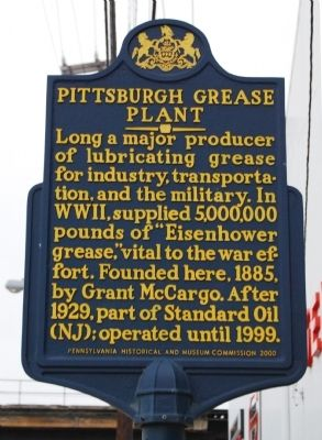Pittsburgh Grease Plant Marker image. Click for full size.