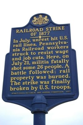 Railroad Strike Of 1877 Marker image. Click for full size.