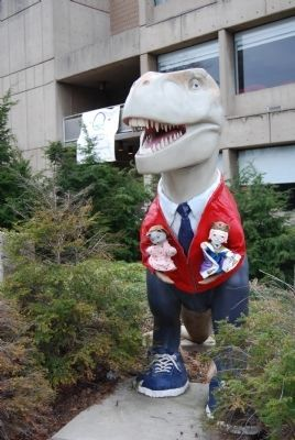 Mr. Rogers Tyrannosaurus Rex Statue image. Click for full size.