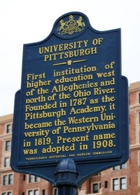 University of Pittsburgh Marker image. Click for full size.