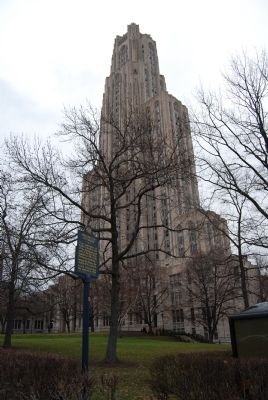 University of Pittsburgh Marker and The Cathedral of Learning image. Click for full size.