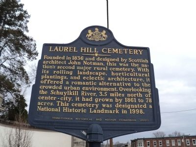 Laurel Hill Cemetery Marker image. Click for full size.