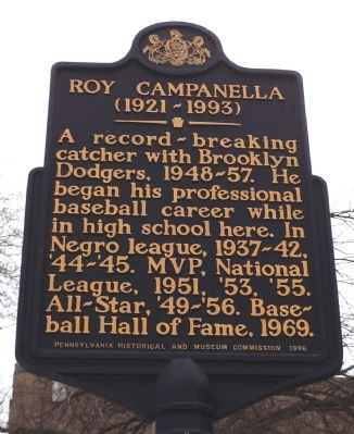 Roy Campanella Marker image. Click for full size.