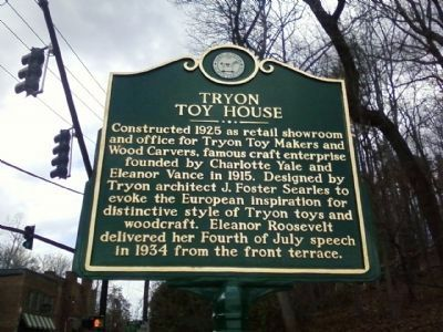 Tryon Toy House Marker image. Click for full size.