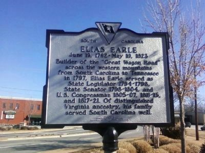 """The Poplars"" / Elias Earle Marker image. Click for full size."