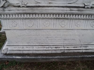 Back of Commodore Isaac Hull Monument image. Click for full size.