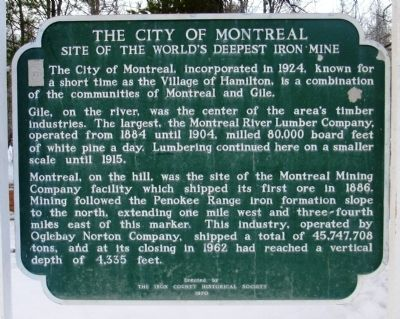 The City of Montreal Marker image. Click for full size.