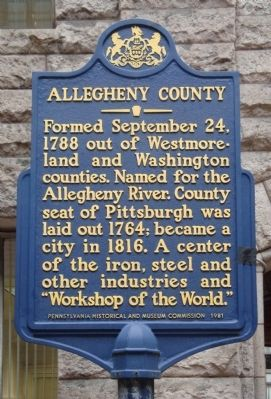 Allegheny County Marker image. Click for full size.