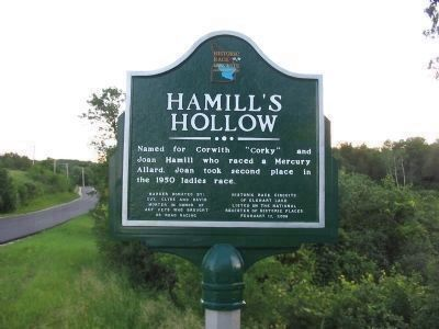 Hamill's Hollow Marker image. Click for full size.