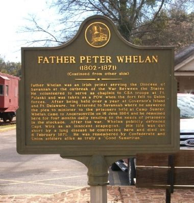 Andersonville / Father Peter Whelan Marker (Side 2) image. Click for full size.