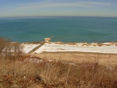 Atwater Beach and Lake Michigan image. Click for full size.