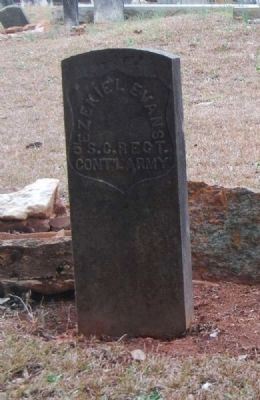 Pvt. Ezekiel Evans<br>Tombstone image. Click for full size.
