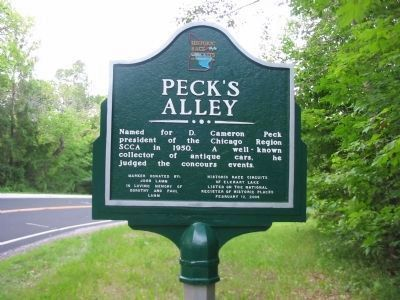 Peck's Alley Marker image. Click for full size.