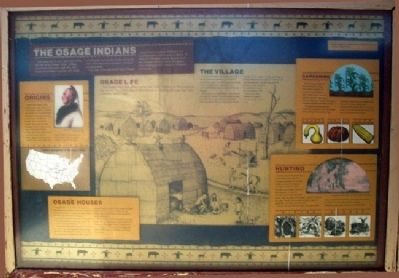 The Osage Indians Marker image. Click for full size.