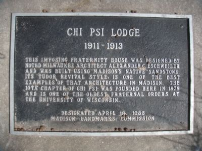 Chi Psi Lodge Marker image. Click for full size.