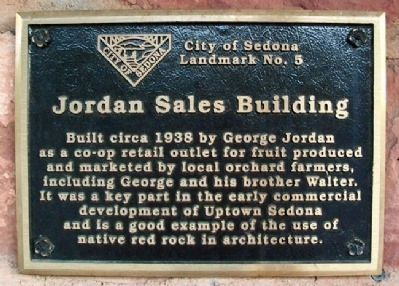Jordan Sales Building Marker image. Click for full size.