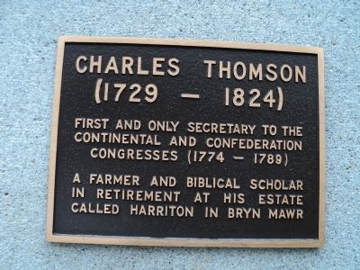 Charles Thomson Marker image. Click for full size.