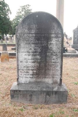 Dr. John Frazier Livingston<br>Tombstone image. Click for full size.