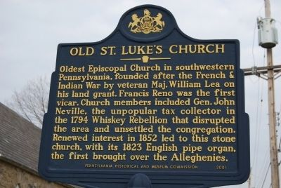 Old St. Luke's Church Marker image. Click for full size.