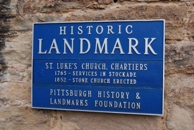 Old St. Luke's Church Historic Landmark Marker image. Click for full size.