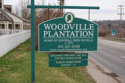 Neville House Woodville sign image. Click for full size.