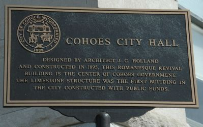 Cohoes City Hall Marker image. Click for full size.