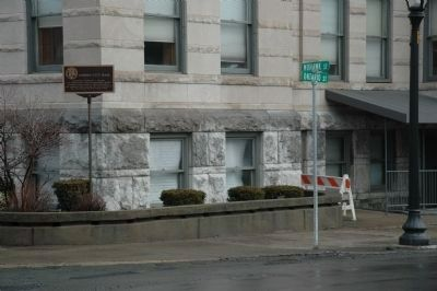 Cohoes City Hall Marker - Corner of Mohawk & Ontairo image. Click for full size.