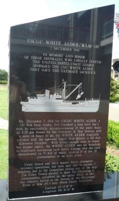 USCGC <i>White Alder</i> Marker Panel 1 image. Click for full size.