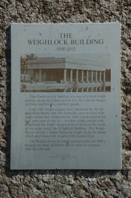 The Weighlock Building Marker image. Click for full size.
