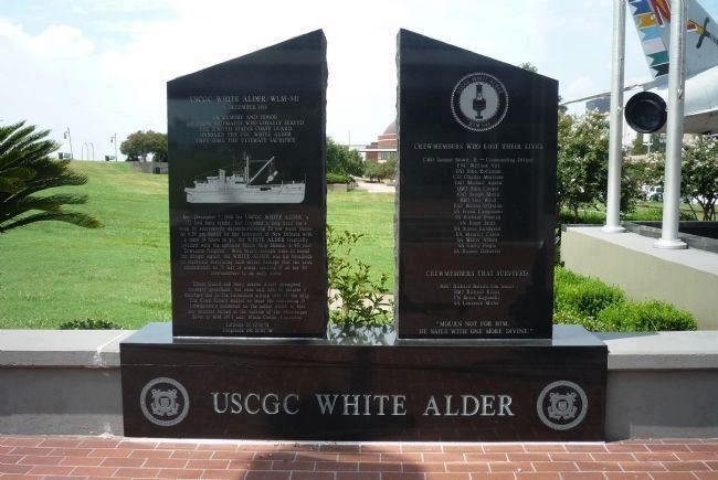 USCGC <i>White Alder</i> Memorial image. Click for full size.