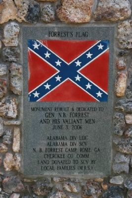 Gen. N.B. Forrest Captured Col. A.D. Streight Monument Marker (Backside) image. Click for full size.