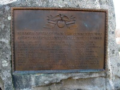 Gaylordsville World War II Monument image. Click for full size.
