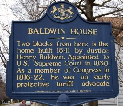 Baldwin House Marker image. Click for full size.