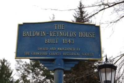 Baldwin-Reynolds House Marker image. Click for full size.