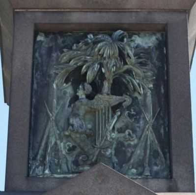 Irish Volunteers Marker, Bas Relief detail image. Click for full size.