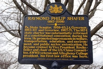Raymond Philip Shafer Marker image. Click for full size.